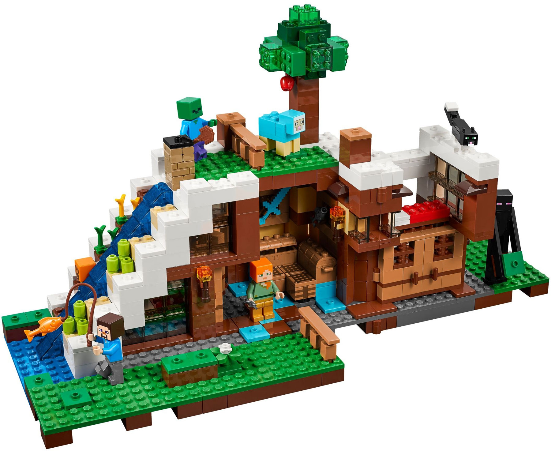 Lego 21134 lego minecraft the waterfall base for Lago shop online