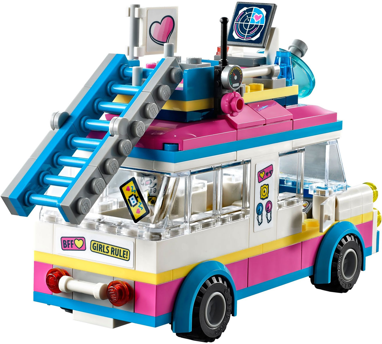lego 41333 lego friends olivia 39 s mission vehicle olivia 39 s mission vehicle toymania lego. Black Bedroom Furniture Sets. Home Design Ideas