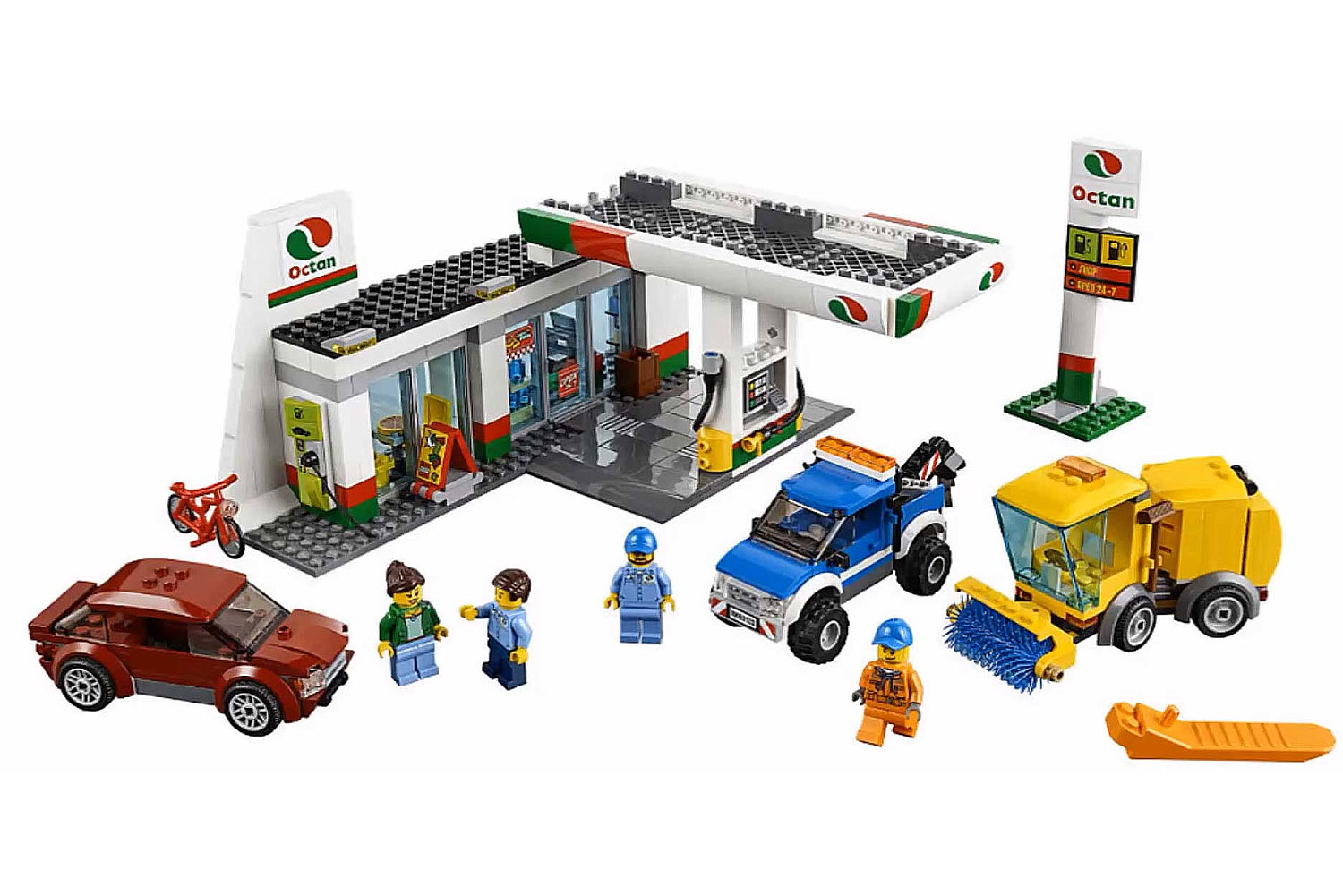 lego 60132 lego city service station toymania lego online shop. Black Bedroom Furniture Sets. Home Design Ideas