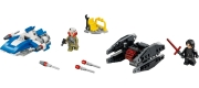 LEGO 75196 - LEGO STAR WARS - A Wing vs. TIE Silencer Microfighters