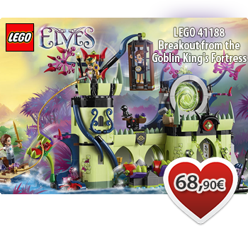 Toymania Online Lego Shop - LEGO ELVES 41188  Breakout from the Goblin King's Fortress  Απόδραση από το Φρούριο του Βασιλιά των Γκόμπλιν