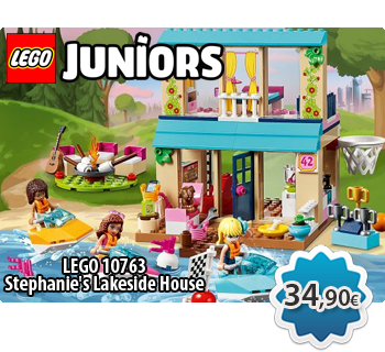 Toymania Lego Online Shop - LEGO JUNIORS 10763  Stephanie's Lakeside House