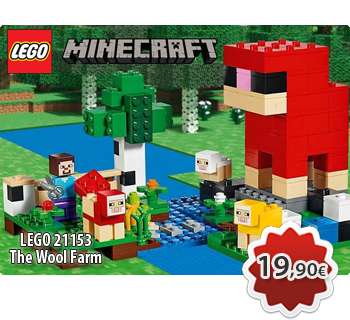 Toymania Lego Online Shop -LEGO MINECRAFT 21153  The Wool Farm  Η Φάρμα Μαλλιού