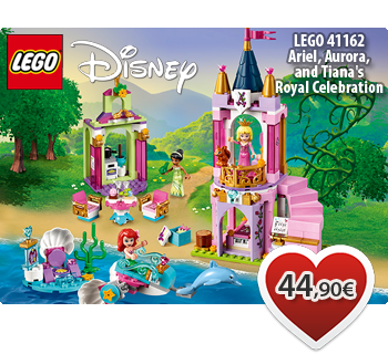 Toymania Online LEGO Shop -  LEGO DISNEY 41162  Ariel, Aurora, and Tiana's Royal Celebration