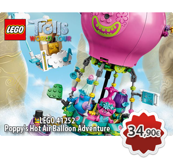 lToymania Lego Online Shop - LEGO TROLLS WORLD TOUR 41252  Poppy's Hot Air Balloon Adventure