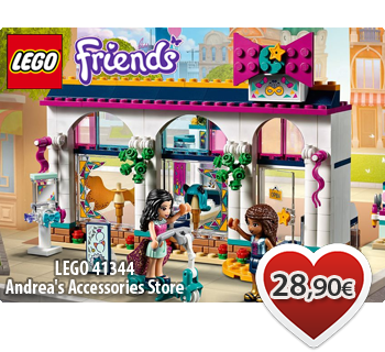 Toymania Online Lego Shop - LEGO FRIENDS 41344  Andrea's Accessories Store