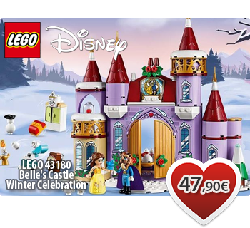 LEGO DISNEY 43180  Belle's Castle Winter Celebration