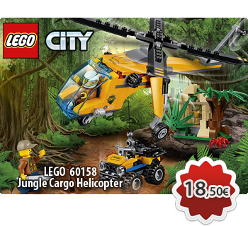 Toymania Online LEGO SHOP - LEGO CITY 60158 Jungle Cargo Helicopter