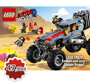 Toymania Lego Online Shop - LEGO THE LEGO MOVIE 2 70829  Emmet and Lucy's Escape Buggy!