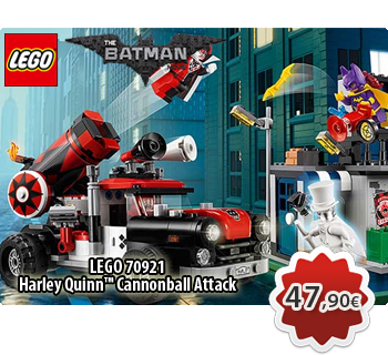 Toymania Online Lego Shop - LEGO THE LEGO BATMAN MOVIE 70921  Harley Quinn™ Cannonball Attack