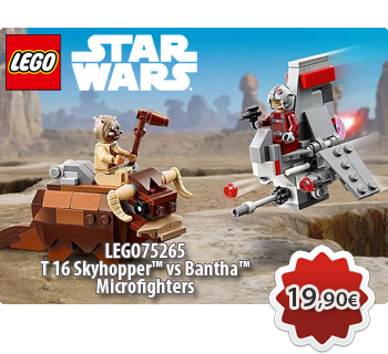 lToymania Lego Online Shop - LEGO STAR WARS 75265  T 16 Skyhopper™ vs Bantha™ Microfighters