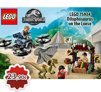Toymania Online LEGO Shop - LEGO JURASSIC WORLD 75934  Dilophosaurus on the Loose  Ο Διλοφόσαυρος το Έσκασε