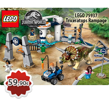Toymania Lego Online Shop - LEGO JURASSIC WORLD 75937  Triceratops Rampage  Η Φρενίτιδα του Τρικεράπτορα
