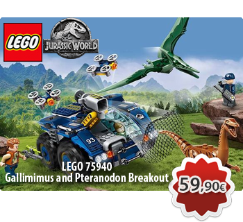 lToymania Lego Online Shop - LEGO JURASSIC WORLD 75940  Gallimimus and Pteranodon Breakout  Απόδραση Γαλλίμιμου και Πτερανόδοντα