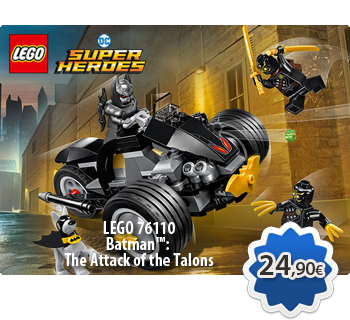 lToymania Lego Online Shop - LEGO DC COMICS SUPER HEROES 76110  Batman™: The Attack of the Talons