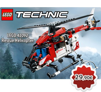 Toymania Online LEGO Shop - LEGO TECHNIC 42092  Rescue Helicopter